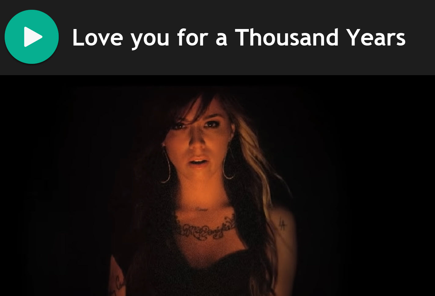 Love you for a Thousand Years by Christina Perri for Practice Chanter