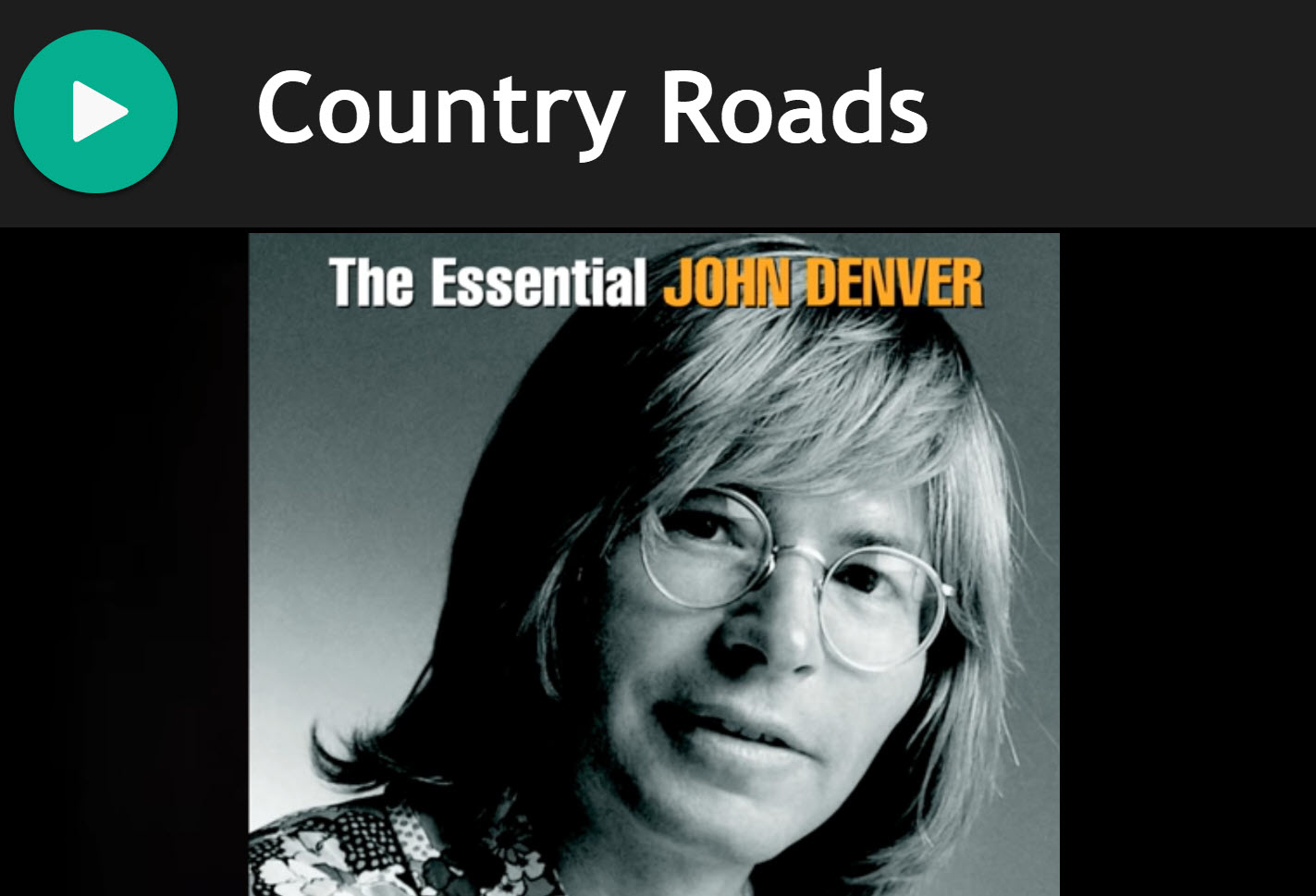 Country Roads by John Denver for Smallpipes