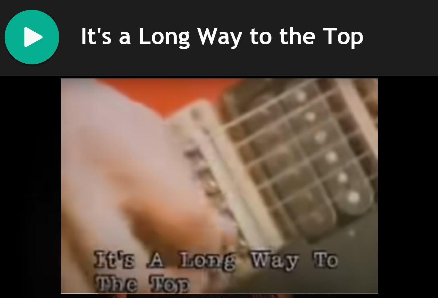 It's a Long Way to the Top by AC/DC for Bagpipes