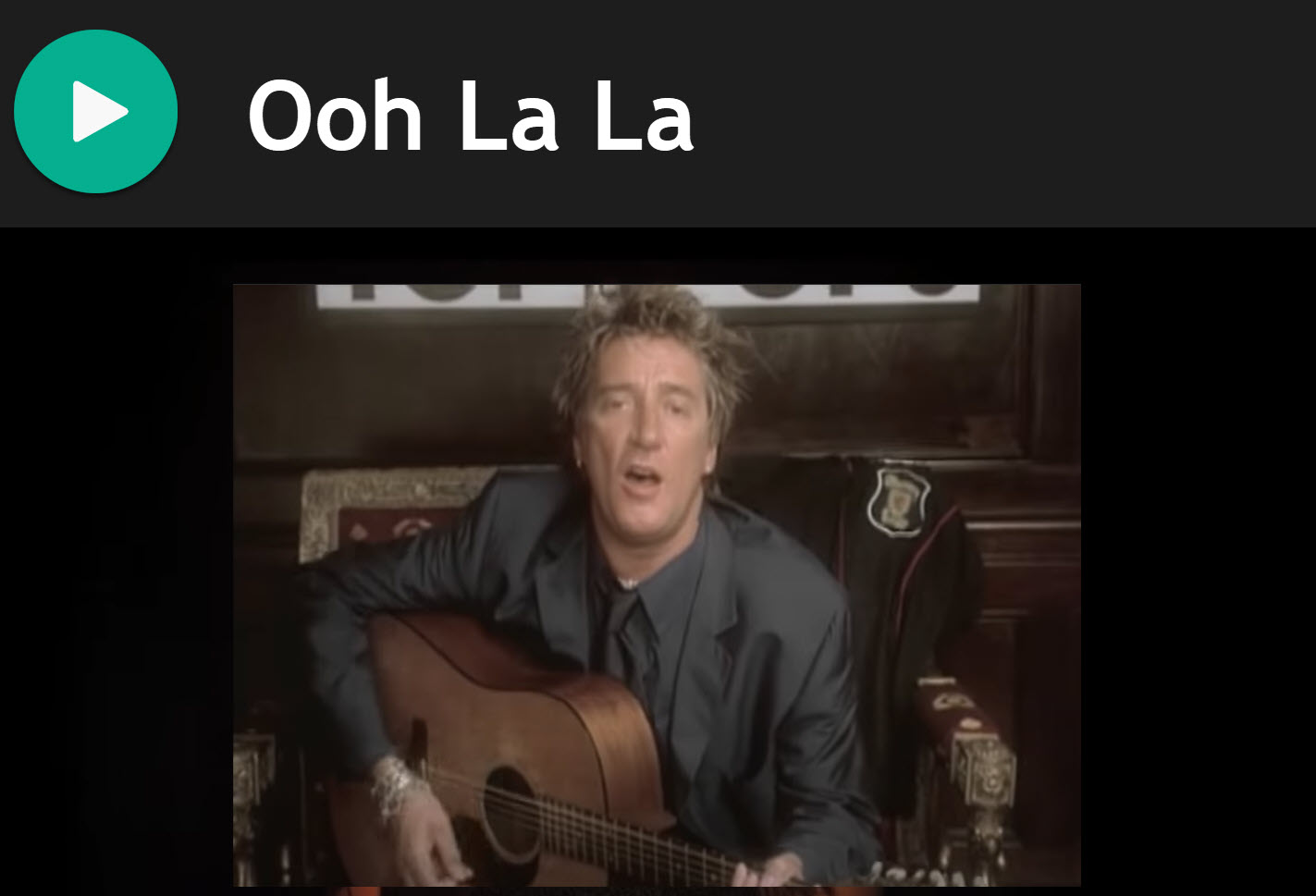 Ooh La La by Rod Stewart for Practise Chanter