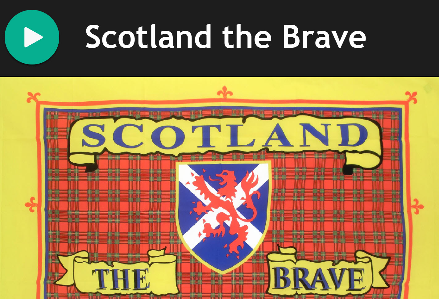 Scotland The Brave - Bluegrass Version for Practice Chanter