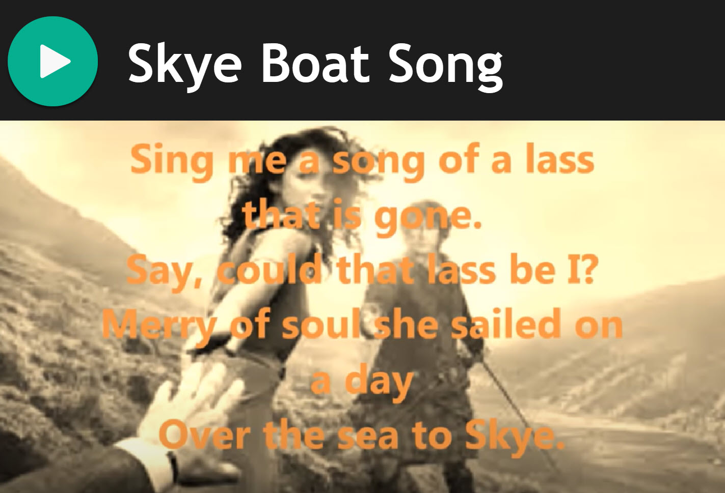 Skye Boat Song Bagpipes for Bagpipes