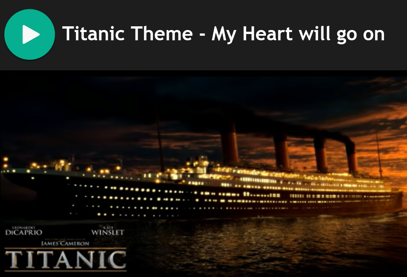 My Heart will Go On - Titanic Theme Song Practice Chanter