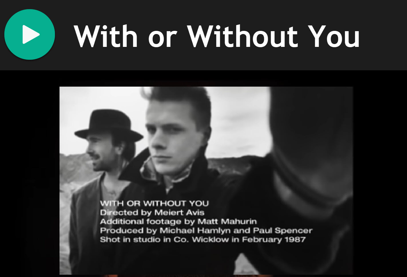 With or without you by U2 for Bagpipes